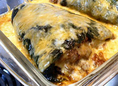 Low carb stuffed poblano chilies