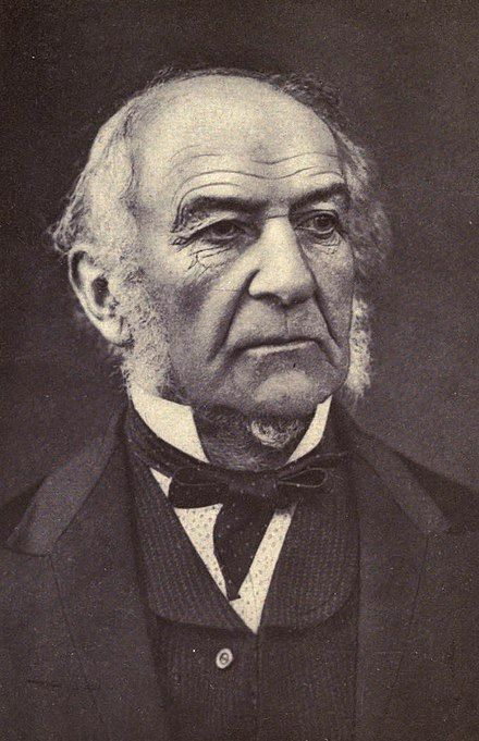 William Ewart Gladstone, FRS, FSS ( 29 December 1809 – 19 May 1898), was a British statesman of the Liberal Party. In a career lasting over sixty years, he served for twelve years as Prime Minister of the United Kingdom, spread over four terms beginning in 1868 and ending in 1894. He also served as Chancellor of the Exchequer four times.