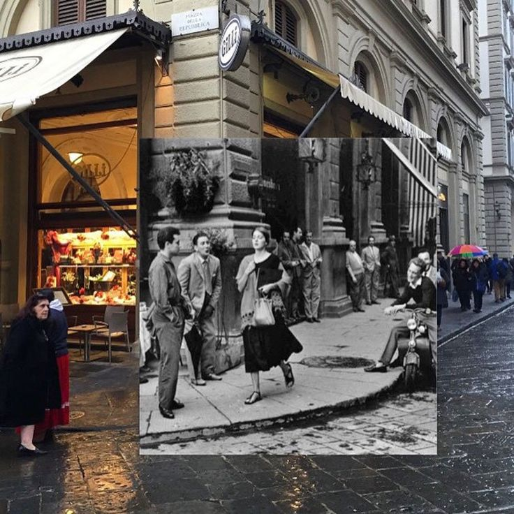 Very Famous photo of woman ignoring street harassment in Paris!Overlapping Photos Merge Historic Scenes from the Past with the Present