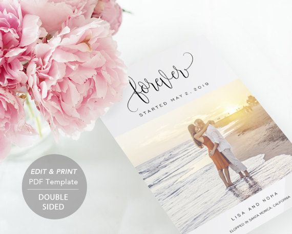 The Best Wedding Announcement Elopement Images On Pinterest - Wedding announcement template