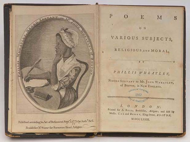 """Illustration of Boston poet Phillis Wheatley by Scipio Moorhead published in her book """"Poems on Various Subjects"""" circa 1773. #philliswheatley"""