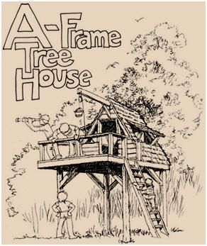 Free A-Frame Treehouse Plans - Build yours with or without a tree with the help ...