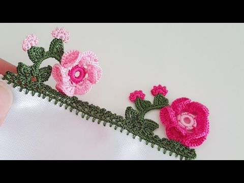Yalancı Iğne Oyası Sepette çiçek Yapımı - YouTube