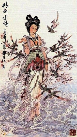 JINGWEI (simplified Chinese: 精卫; traditional Chinese: 精衛; pinyin: jīngwèi) is the name of a character in Chinese mythology.