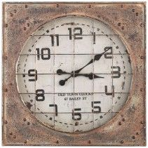 Bond Iron square wall clock old look
