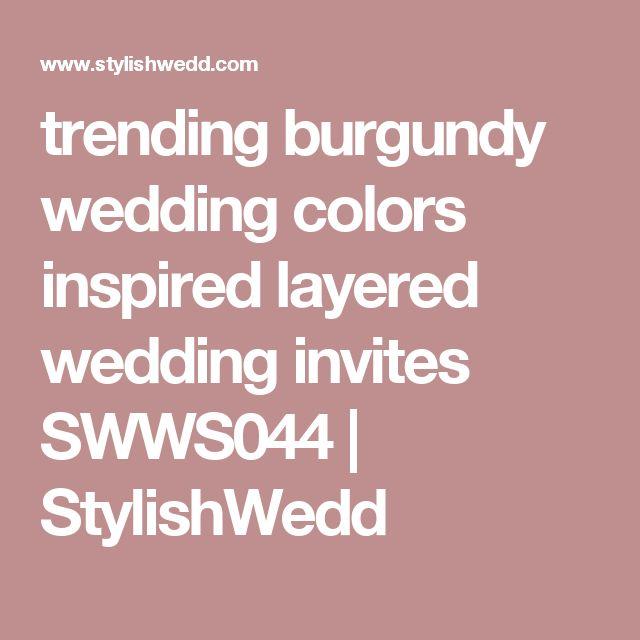 132 best Wedding invitations ideas images on Pinterest Invitation