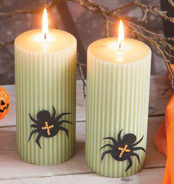 Lys med edderkopper