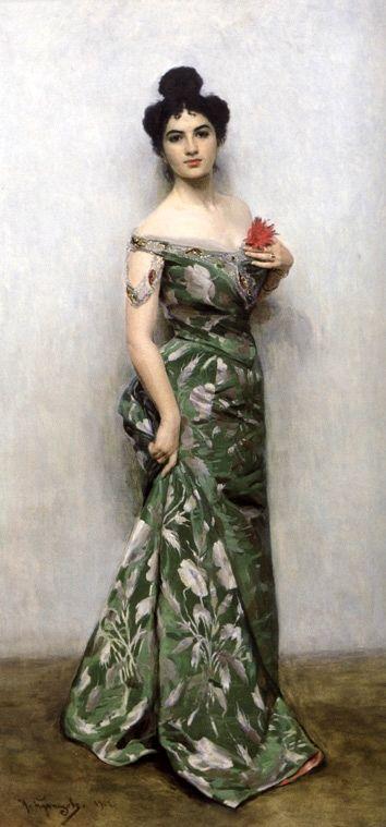 Portrait of Russian opera singer Maria Kuznetsova Benois (circa 1901) by artist Nikolai Kuznetsov (1850-1929).
