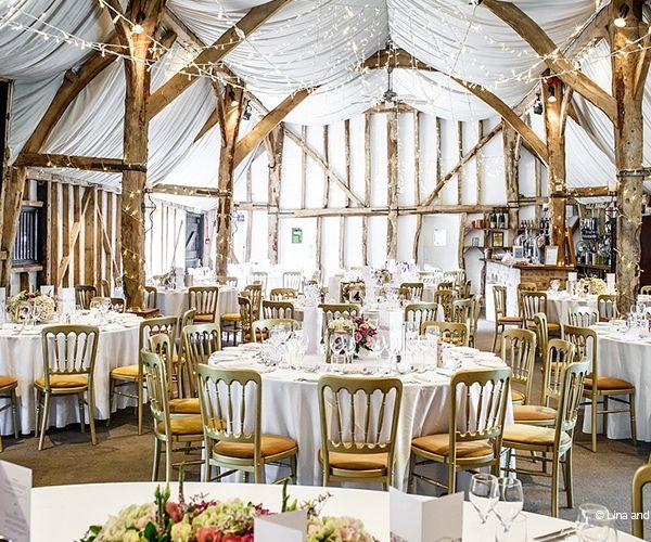 Set up for an wedding breakfast at South Farm wedding venue in Cambridgeshire   CHWV
