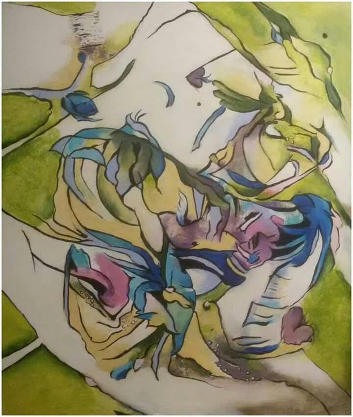 "Silvie Kreiselová  ""Tanec jara"" Acryl 60x70."