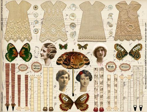 Dreamy Paper Dolls. WOW what a great find