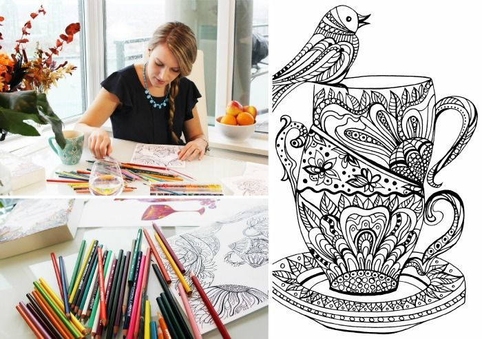 Masha Tikhonova is a graphic designer and work-at-home mom who just launched a Kickstarter campaign for her unique colouring book for moms.