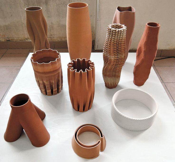 olivier van herpt's 3D printed ceramics at design academy eindhoven
