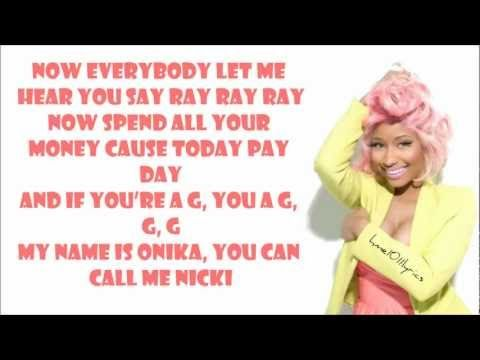 Nicki Minaj - Starships Lyrics Video