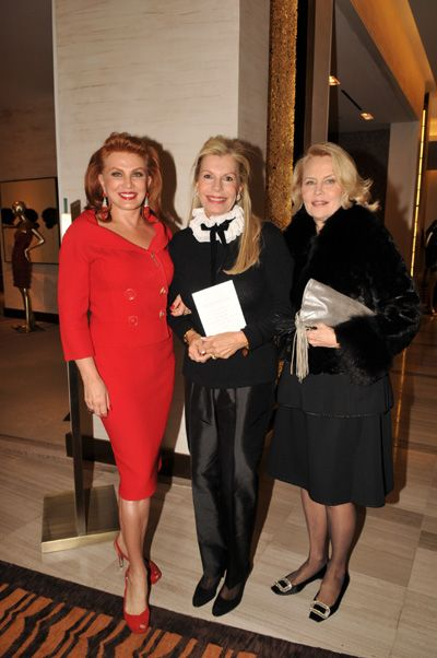 Georgette Mosbacher, Princess Yasmin Aga Khan and