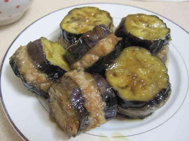 お弁当にも♪なすのひき肉はさみ焼きの画像