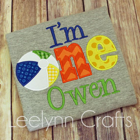 I'm one I'm two personalized beach ball birthday by LeelynnCrafts