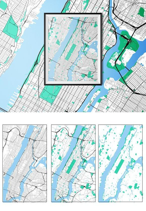 Road Map Of Manhattan.Manhattan Fully Vectored Road Map Map Design Pinterest Map