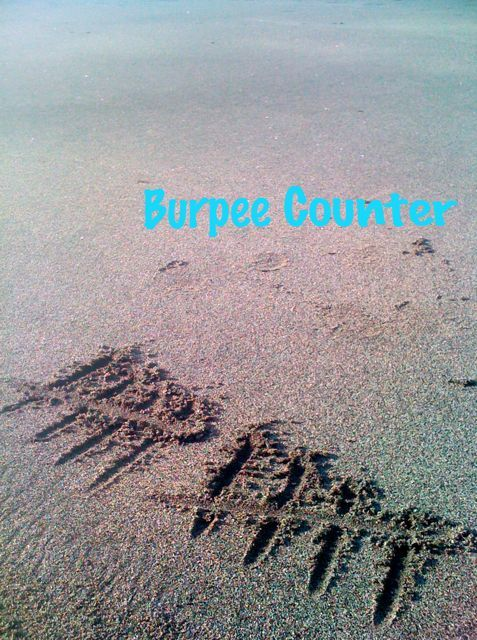 No mat needed. The black sand at Batu Bolong Lombok is perfect for early morning burpees. I have trouble keeping count so I like to write my tally in the sand. Simple.