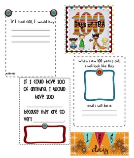 100th day printables freebies