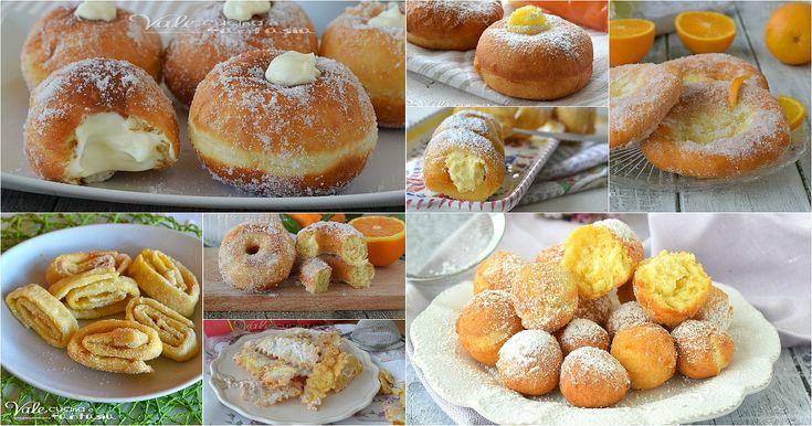 DOLCI FRITTI DI CARNEVALE ricette facili e golose, frappe o chiacchiere, castagnole,ciambelle,bombe, ricette dolci per tutti