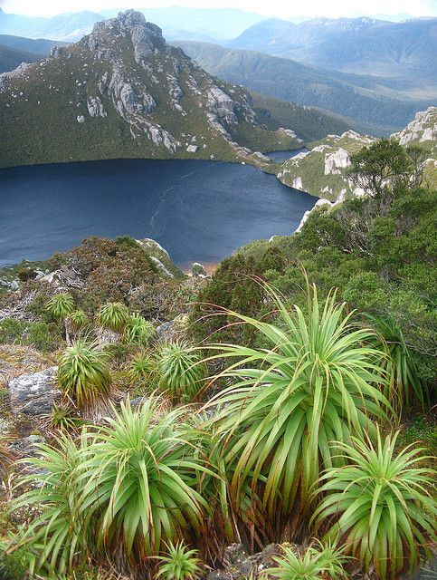 by jeffkmiller on Flickr. A classic view of Lake Oberon, in the Western Arthur Range, southwest Tasmania.