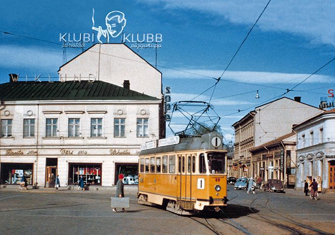 Valmet RM 2, Kauppatori, Turku (1959). RM 2 were the last trams acquired for the Turku tram network prior to its closure in 1972, built by the Finnish metal industry corporation Valmet in 1956. Although never operated as such, these trams were designed for use on light rail lines.