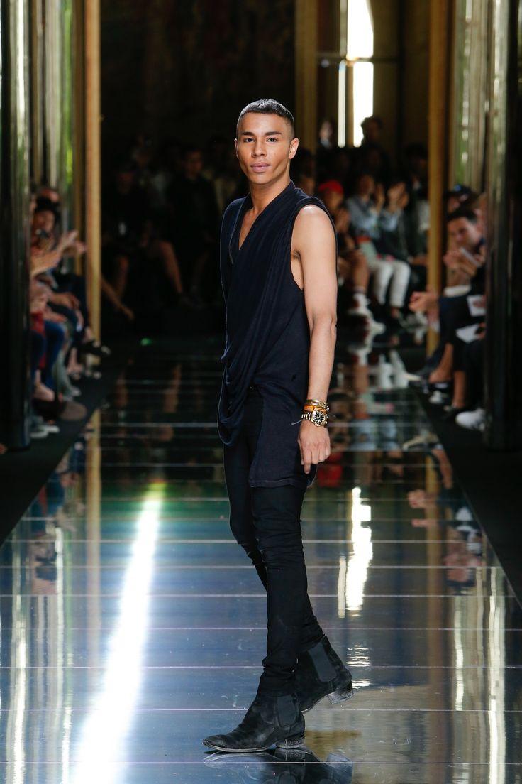 Balmain Spring 2017 Menswear Collection Photos - Vogue / Olivier Rousteing, Creative Director of Balmain