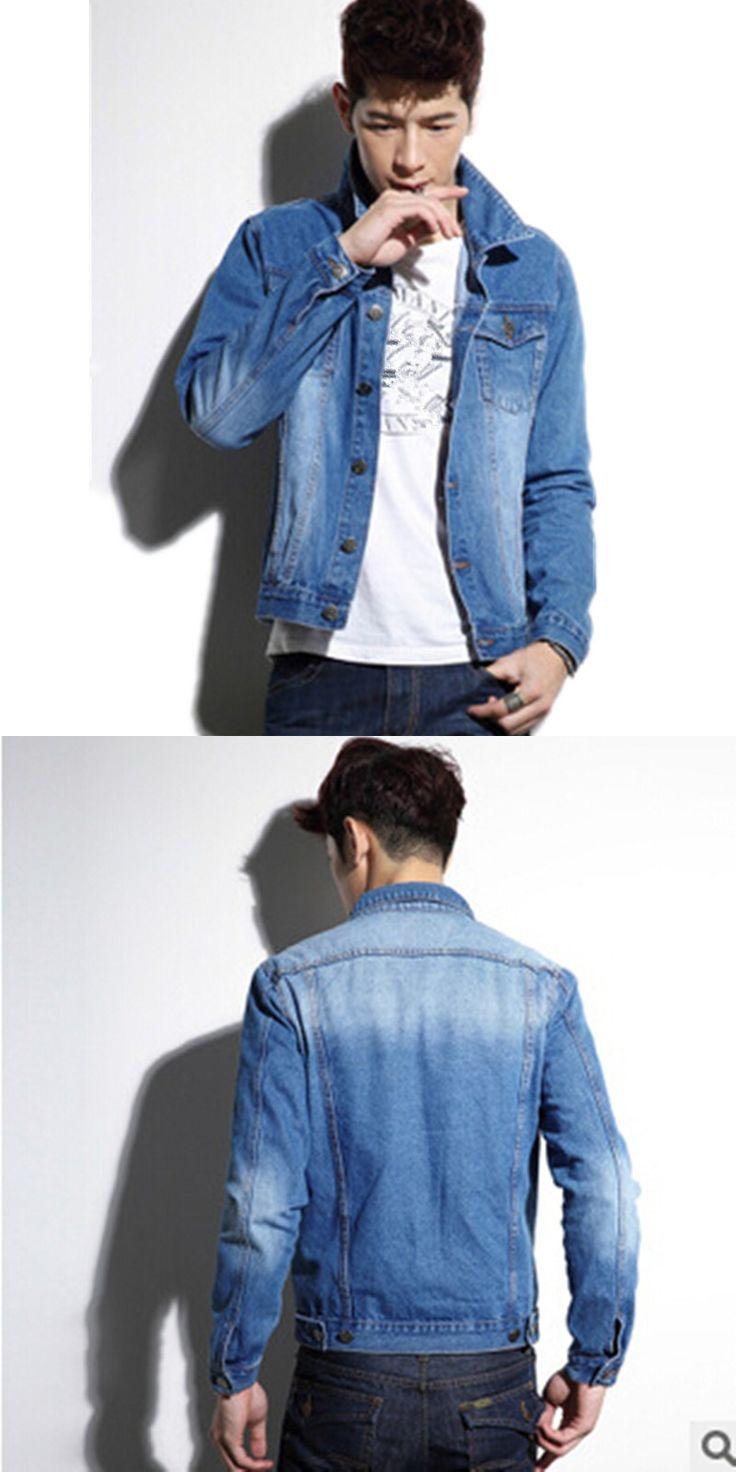 Anti- fade quality assurance 2017 Spring New Retro fashion hot sale men lapel short paragraph Slim denim jacket Cheap wholesale