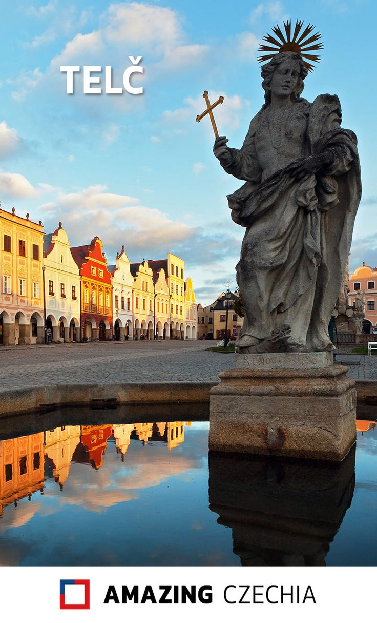Telč is a beautiful Moravian small town in the Jihlava District in the Vysočina Region. Its center is a UNESCO World Heritage Site. #czechia #moravia #telč #unesco #worldheritagesite
