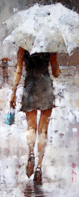 """""""Retail Therapy"""" - by Andre Kohn  Love this - the painting and the thought of retail therapy!"""