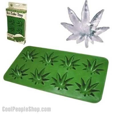 $10.95 Ice Cube Tray Marijuana Leaf   Cool People Shop
