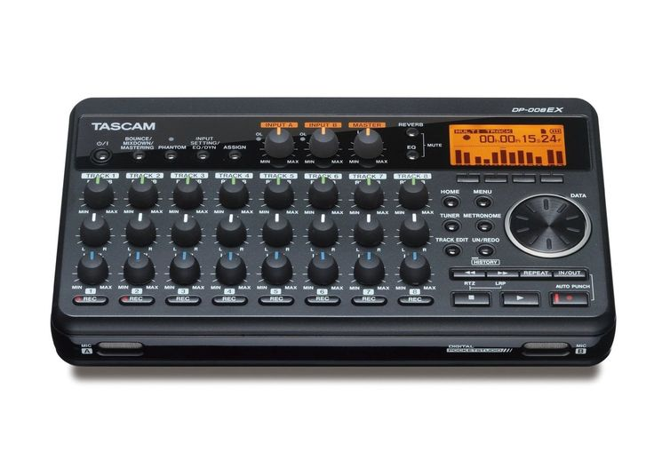 Tascam Dp-008Ex Digital Portastudio 8-Track Portable Multi-Track Recorder