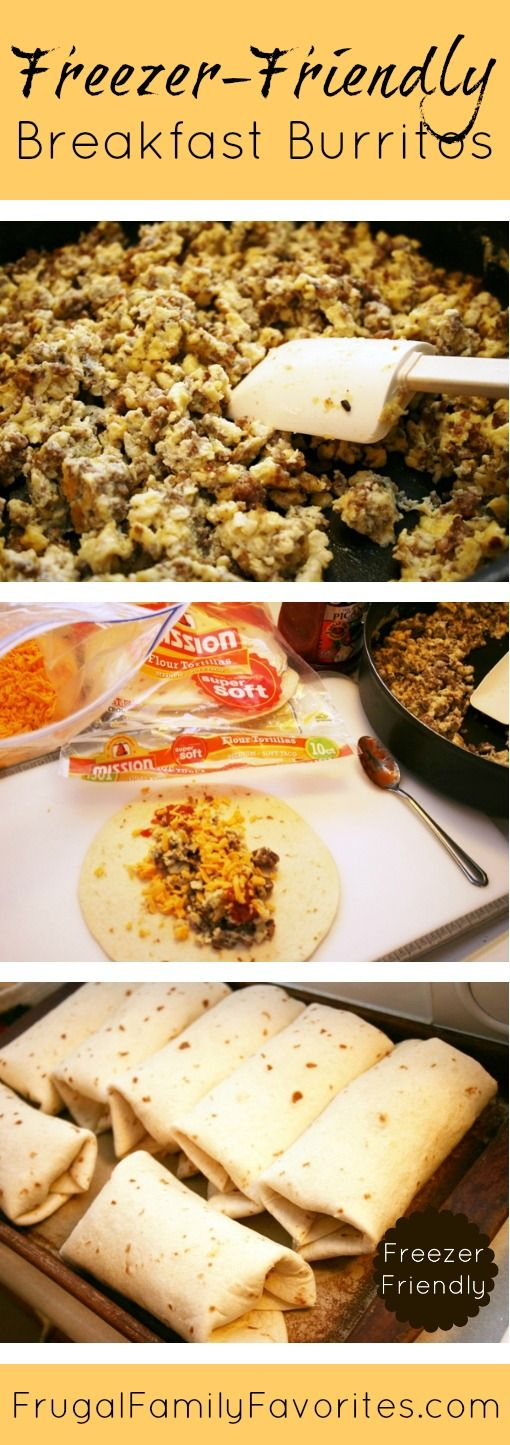 Homemade breakfast burritos...perfect for mornings when you can't make breakfast for your family