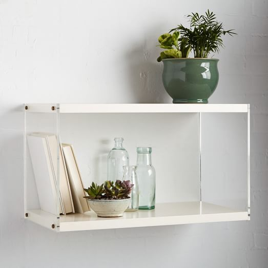 Acrylic Sided Shelf | west elm