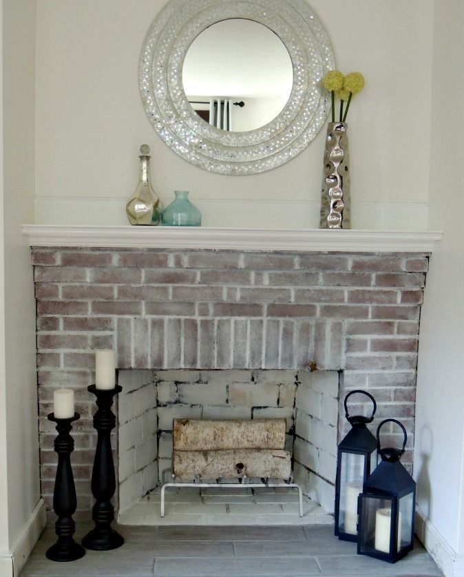 Revamping the fireplace yay it 39 s makeover time - Red brick fireplace makeover ideas ...