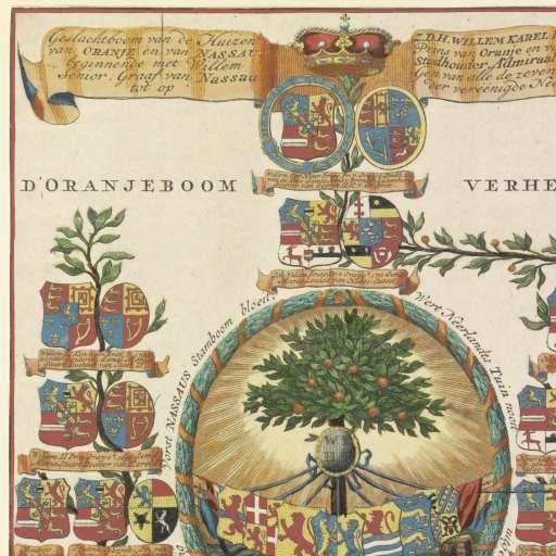 Stamboom van het Huis Oranje-Nassau, Hendrik de Leth, 1747 - 1766 - Rijksmuseum