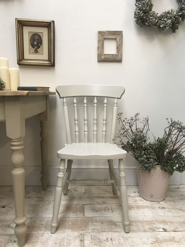 Farmhouse Chair Farrow And Ball Drop Cloth Painted