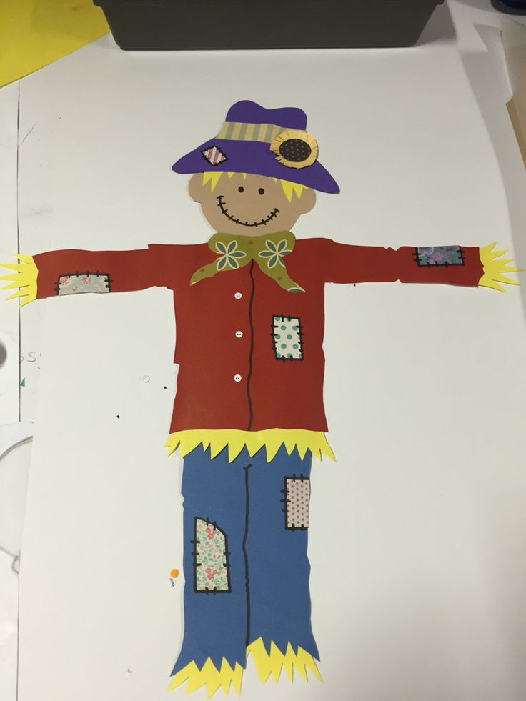 I loved doing this scarecrow so much. It's the patches!