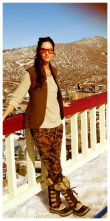 Botas Sorel y pantalón pantalón de Zara