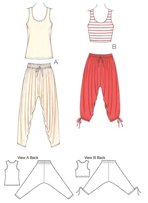 K3701   Pants & Tops   Pants, Shorts & Tops   Kwik Sew Patterns