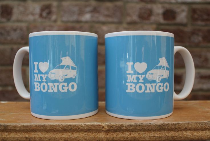 MAZDA BONGO FRIENDEE FORD FREDA PAIR OF CAMPERVAN MUGS - I Love My Bongo - NEW in Vehicle Parts & Accessories, Automobilia, Mugs, Cups & Dishes | eBay