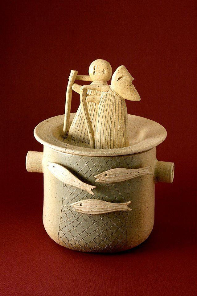 """La cena delle cento ciotole® """"Dei pescatori"""" 2009, pentola / pot.  Richard Biavati.  My kind of casserole."""