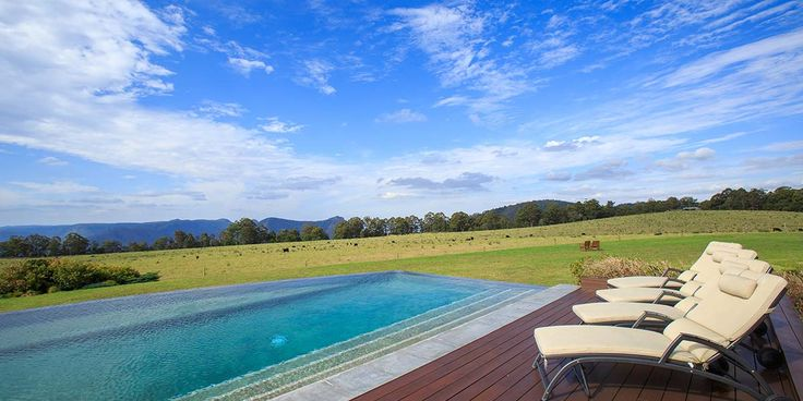 One of you love the pool and the other one getting out amongst it? Spicers Peak lodge has downhill mountain biking and bushwalking as well as this stunning infinity pool! Perfect for  people who like to finish a day of adventure in comfort or for couples with different interests! | Follow See Something New for more Australian travel inspiration!