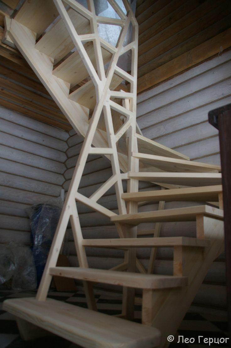 architecture d'escaliers en bois