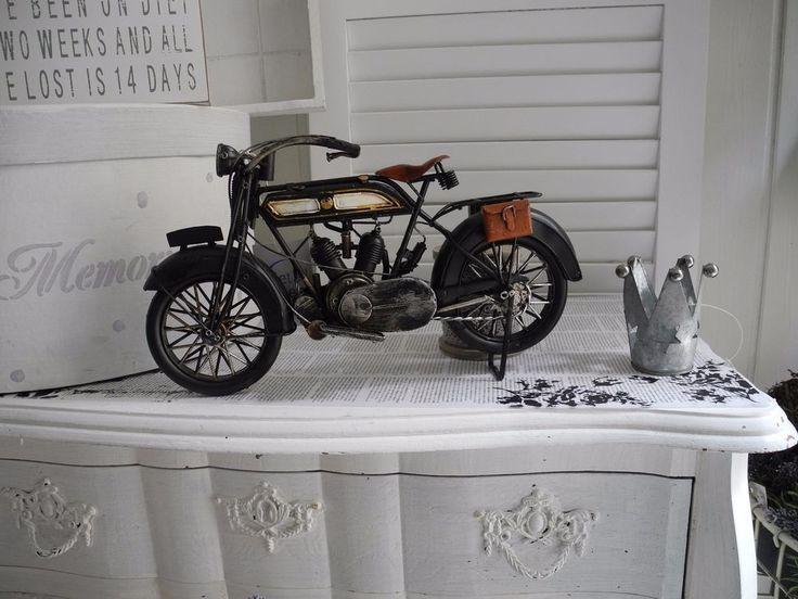 Fahrrad Rad Mofa Motorrad Fahrzeug Oldtimer Metall antik Vintage Nostalgie 964