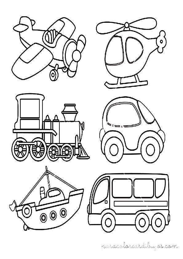 medios de transporte para colorear - Buscar con Google