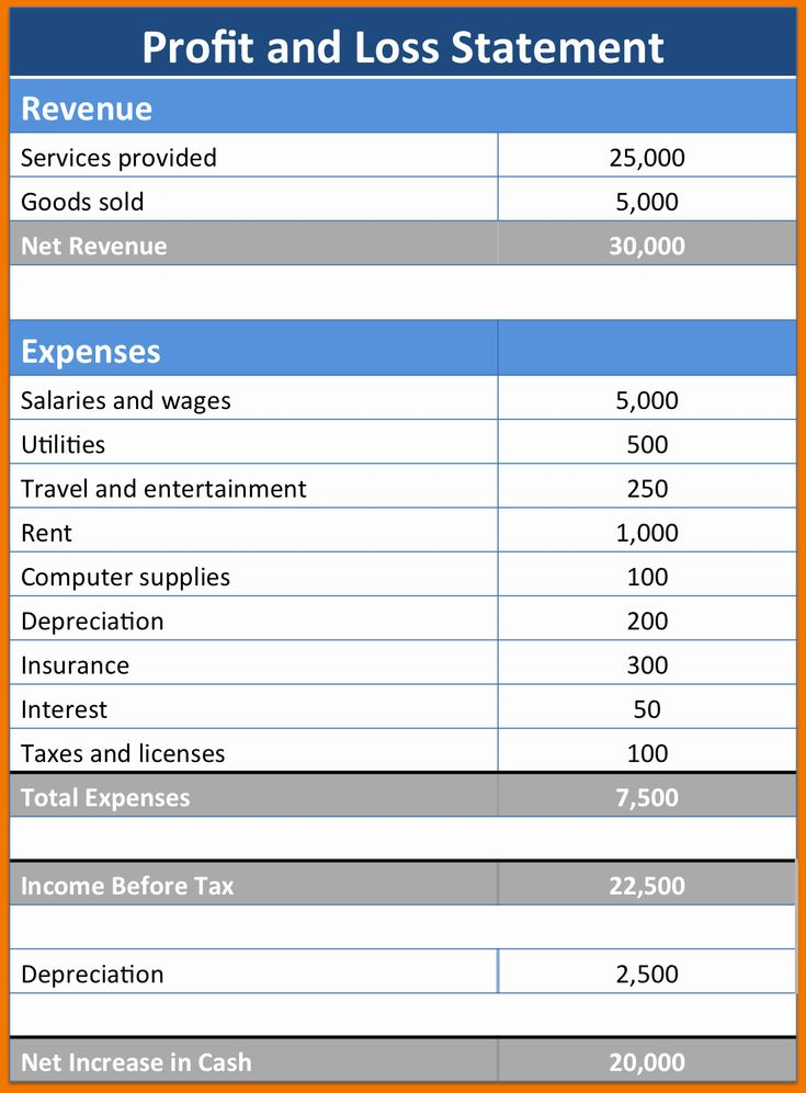 Self Employment Income Statement Template Awesome Free ...