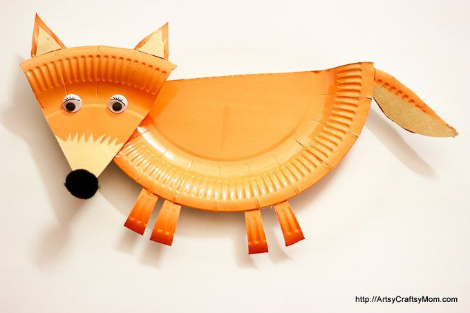 Artsy Craftsy Mom | This week, we made a Paper Plate Fantastic Mr. Fox Craft – perfect for World Book day, when you are enjoying the book or celebrating Roald Dahl day! Easy to cut and assemble. Frugal , fun puppet to make at home. Also goes with books - The Fox in the Dark, Bedtime in the Meadow (Padded Board Books) , Fox in Socks ,What Does the Fox Say?, I Love You Because You're You, Red Riding Hood