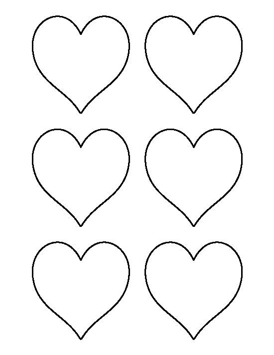 3 inch heart pattern. Use the printable outline for crafts, creating stencils, scrapbooking, and more. Free PDF template to download and print at http://patternuniverse.com/download/3-inch-heart-pattern/